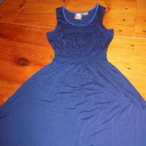 GIRLS FROM SAVOY S Blue Tea Dress Gathered Waist
